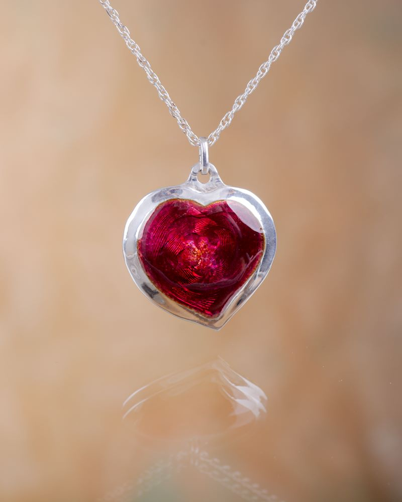 Ruby red heart